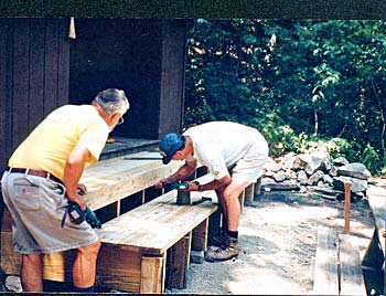 Clarks Ferry Shelter Construction
